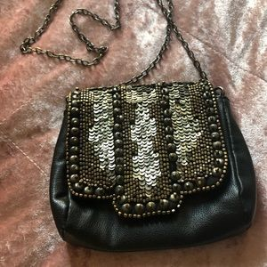 Urban Outfitters Leather Sequined Crossbody Bag